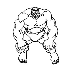 Character for Avenger the Incredible Hulk Coloring pages