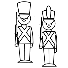 toy soldier to color for kids
