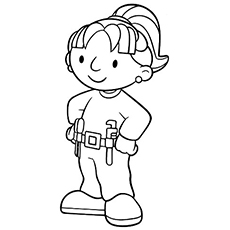 wendy bobs business partner coloring page - Construction Worker Coloring Page