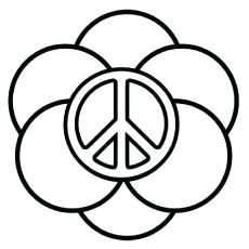 White Poppy Coloring Page