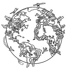 World Map Pic To Color