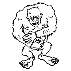 Yeti the Monster Inc to Color
