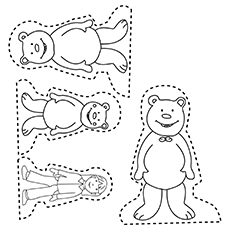 The Three Bears Colouring Pages