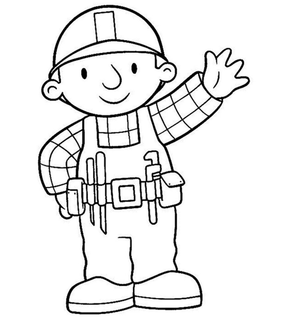 Top 18 Free Printable Bob The Builder Coloring Pages Online
