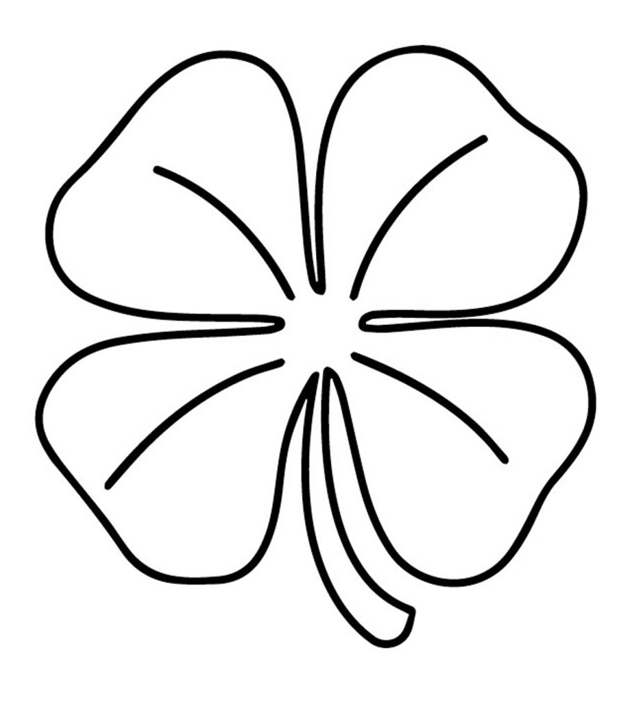 It's just a picture of Crazy 4 Leaf Clover Printable