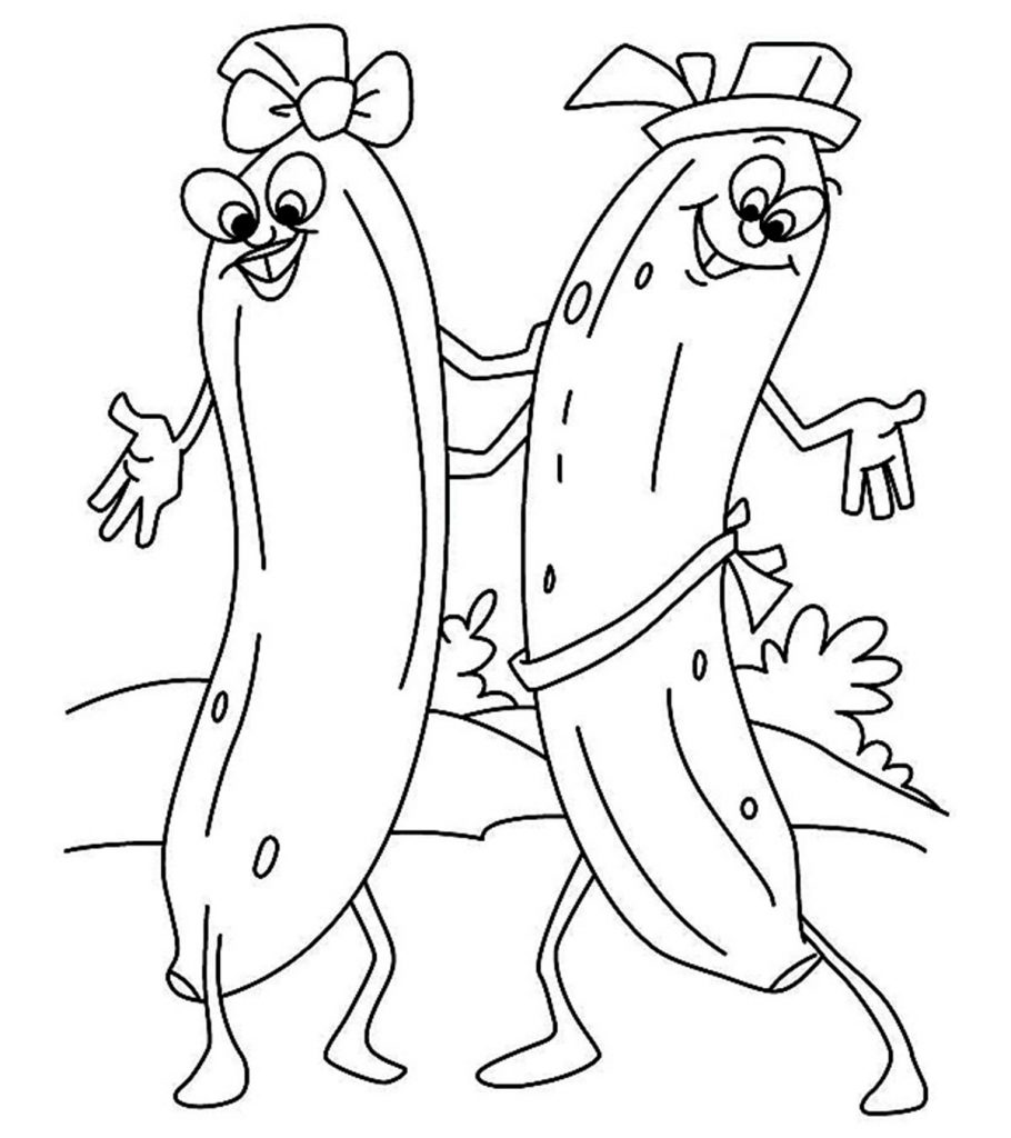 Banana Coloring Pages - Best Coloring Pages For Kids | 1024x910