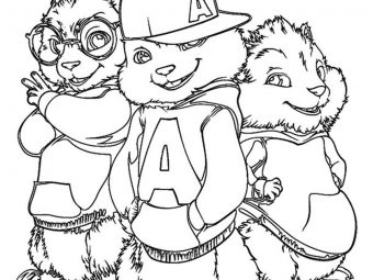 "Top 25 Cute ""Alvin And The Chipmunks"" Coloring Pages For Your Toddler"