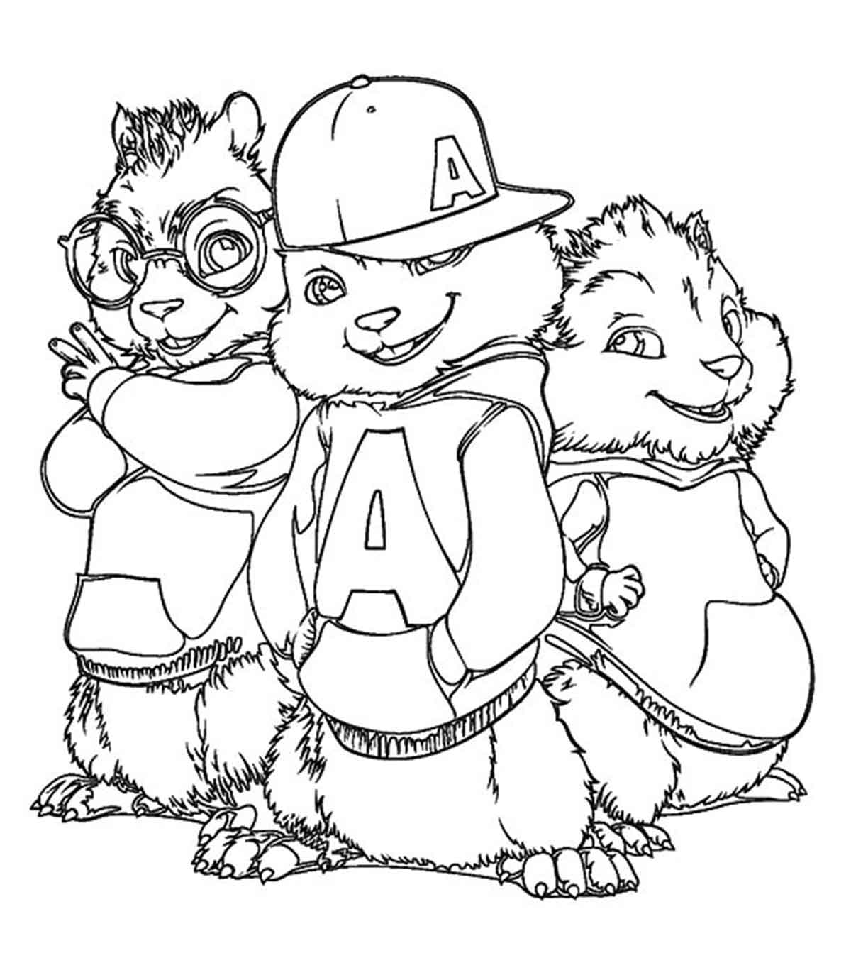 It's just a graphic of Bright Chipmunk Coloring Page