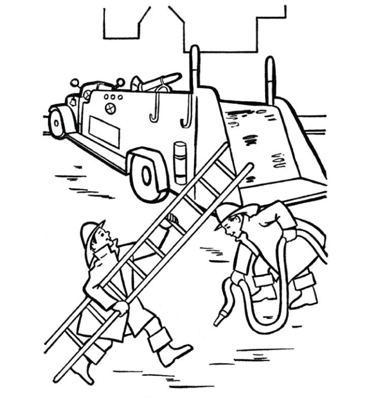 Kids Coloring Pages Fire Truck / The sheets are easily ...