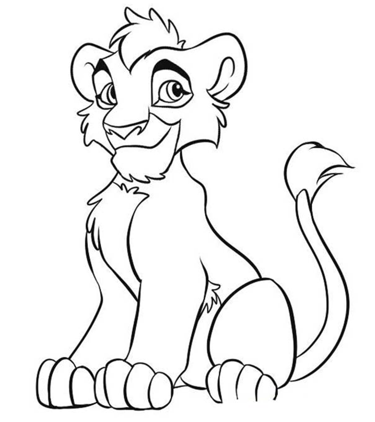 Top 3 Free Printable The Lion King Coloring Pages Online