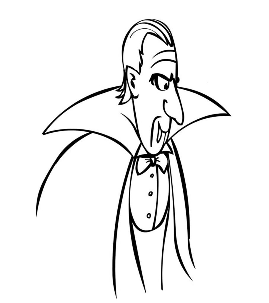 Top 18 Free Printable Vampire Coloring Pages Online