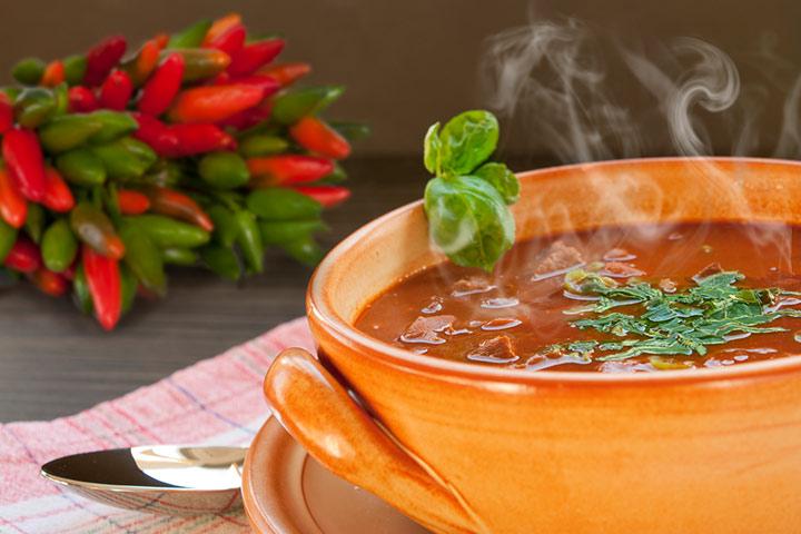 Warm liquids or soups