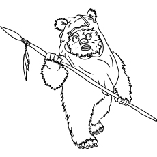 Coloring Pages of Wicket Star War Character