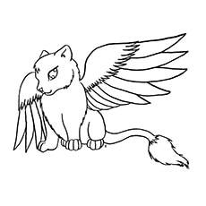 Wild Winged Warrior Cat