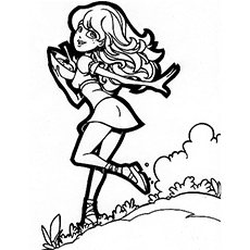 Free Printable Coloring Page of Goldilocks Pinup