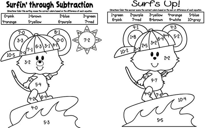 math worksheet : numbers colour and student centered resources on pinterest : Addition Subtraction Coloring Worksheets