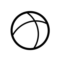ball-icon-black-white-line