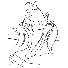 Peeled Bananas Feelings Coloring Pages