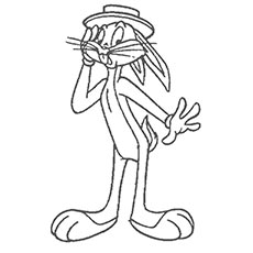 Bugs Bunny Coloring Page