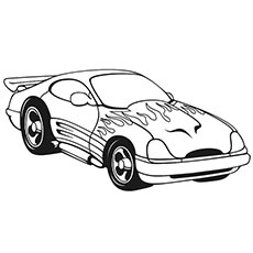fast cars coloring pages to print | Top 20 Free Printable Sports Car Coloring Pages Online