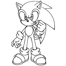 cartoon sonic the hedgehog - Sonic The Hedgehog Coloring Pages