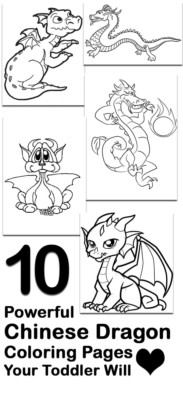 top 10 free printable chinese dragon coloring pages online - Baby Chinese Dragon Coloring Pages