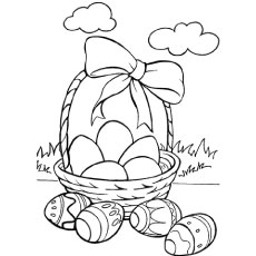 colorful basket - Coloring Pages Easter Baskets