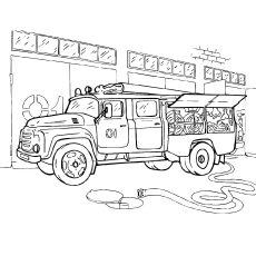 photograph about Free Fire Truck Coloring Pages Printable known as Firefighter Coloring Webpages - Absolutely free Printables - MomJunction