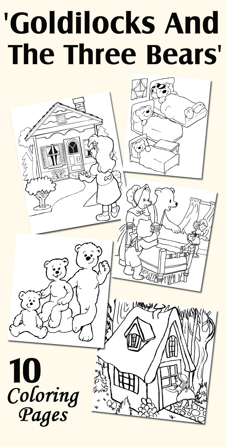 Coloring pages for toddlers sleeping - Top 10 Free Printable Goldilocks And The Three Bears Coloring Pages Online