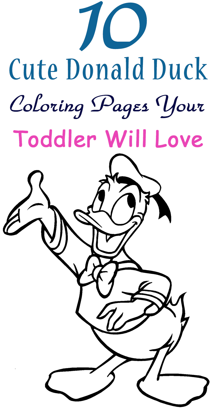Coloring pages duck