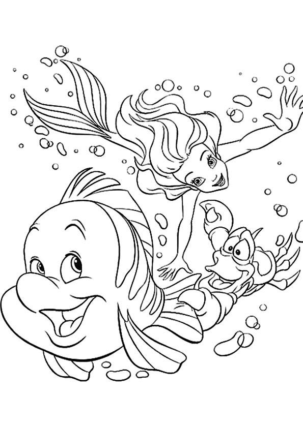 de-kleine-zeemeermin-kleurplaat