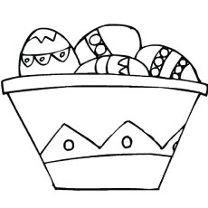 easter basket to color - Easter Basket Coloring Pages