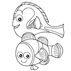 Finding Nemo Line Art to Color