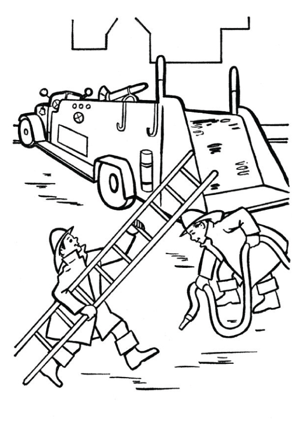 fire-truck-with-firemen-in-action-printable-coloring-page