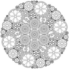 intricate floral abstract coloring pages - Printable Abstract Coloring Pages