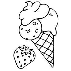 food coloring page - Coloring Page Ice Cream Cone