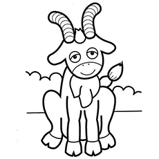 Friendly Goat Coloring Pages