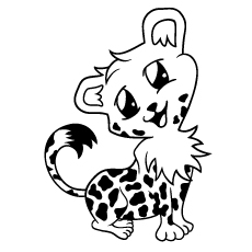 happy baby cheetah Top 25 Free Printable Leopard Coloring Pages Online