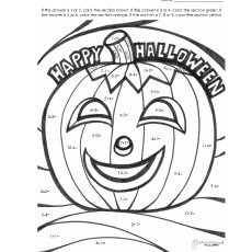 addition happy hallowee insect image based math addition coloring worksheets