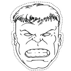hulk mask cut out coloring pages - Coloring Pages Incredible Hulk