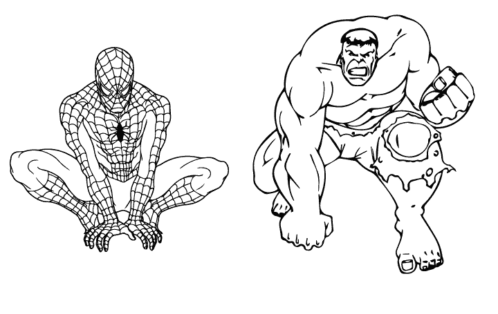 spider hulk coloring pages - photo#4