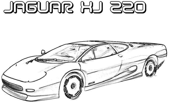 top of car colouring p jaguar car coloring page