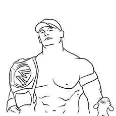 John Cena Coloring Pages To Print Az Coloring Pages Wrestler John