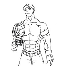 john cena coloriage john cena - Wwe Pictures To Colour
