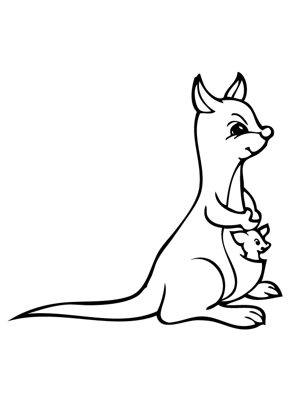 kangaroo-coloring-book