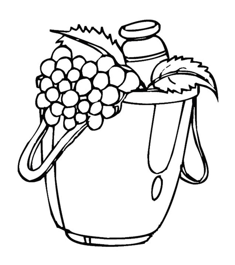 Printable Bunch of Grapes Coloring Page – SupplyMe | 1024x910