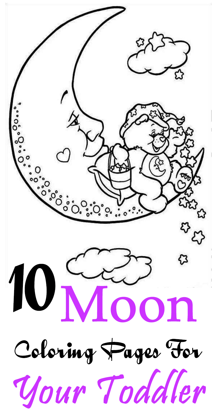 Moon coloring pages for toddlers - Moon Coloring Pages For Toddlers 30