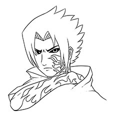 newest sasuke curse mark - Naruto Coloring Pages