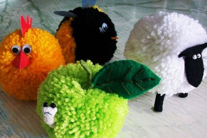 5 Adorable Pom Crafts For Preschoolers And Kids