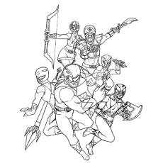 Top 25 Free Printable Mighty Morphin Power Rangers Coloring Pages ...